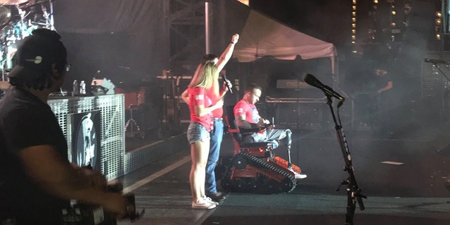 """""""This Marine definitely deserves all the praise that he receives!"""" the fund said online about Rumbaugh, who lost his legs in Afghanistan."""