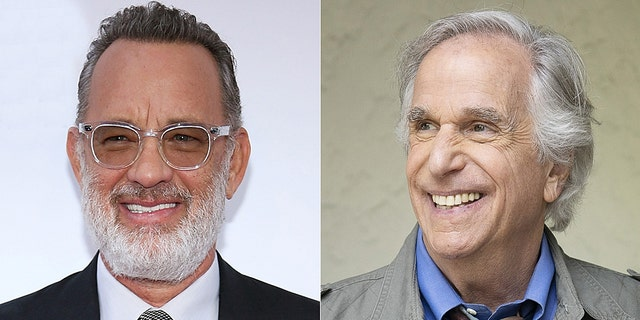 "Tom Hanks, left, and Henry Winkler, right, are revered by many as two of the ""nicest people in Hollywood."""