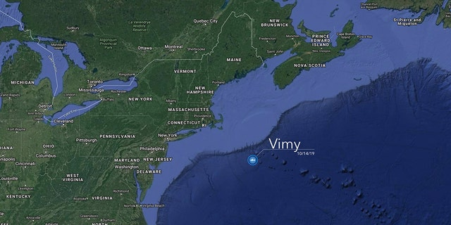 Vimy was caught an tagged in the North Atlantic Ocean, OCEARCH said.