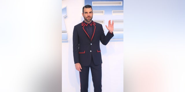 "Actor Zachary Quinto attends ""Star Trek Beyond"" red carpet at Indigo Mall on August 18, 2016, in Beijing, China."