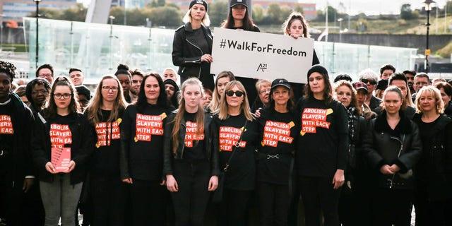 "The ""Walk For Freedom"" in Newcastle, United Kingdom."