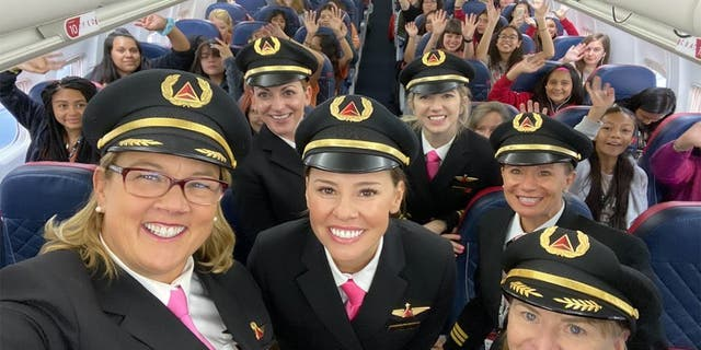 Delta celebrates International Girls in Aviation Day on Sunday with an entourage of 120 girls ages 12 to 18 from Salt Lake City to NASA in Houston.
