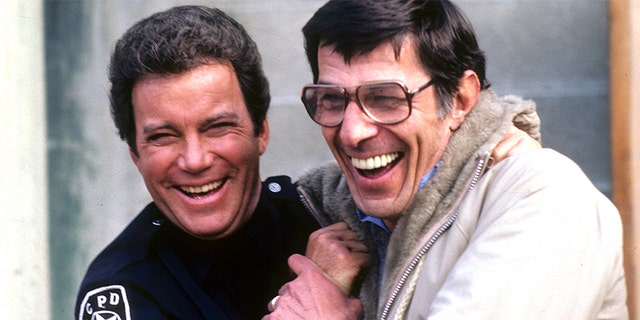(L-R) William Shatner and Leonard Nimoy in a 'T.J. Hooker' episode from 1983.