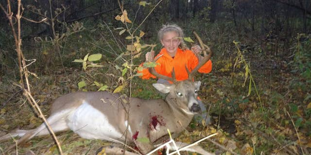 """It was my first deer and my first time going out hunting with me shooting,"" Lilly said"