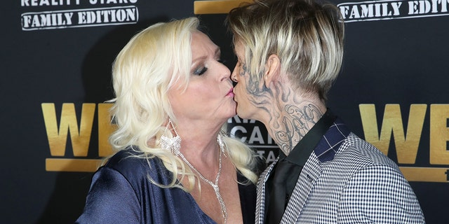 Jane Carter and Aaron Carter attend WE tv Celebrates the 100th Episode of the