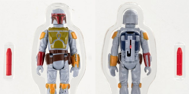 An exceptionally rare 1970's Star Wars Boba Fett figurine, that never made it into mass production due to safety concerns, is expected to fetch up to a staggering $500,000 when it goes up for auction in Pennsylvania in November. (Credit: SWNS)