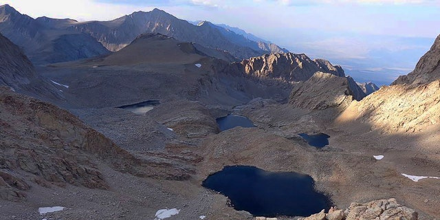 This undated photo provided by the Inyo County Sheriff's Department shows 6th lake below Mount Williamson where authorities say the skeletal remains of a person were discovered on Oct. 7. (Inyo Sheriff's Department via AP)