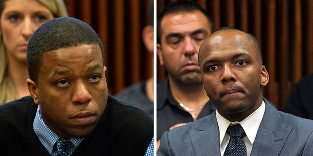 Corey Morgan, left, and Dwright Boone-Doty, right, were both found guilty of first-degree murder by separate juries this week.