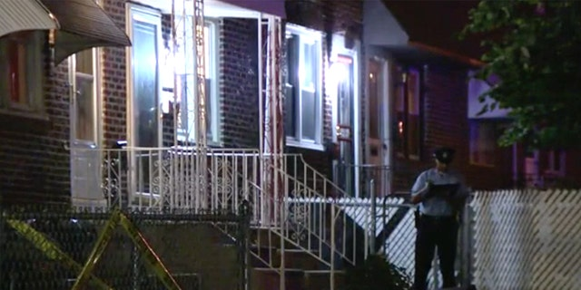 The scene where the shooting unfolded Monday in northeast Philadelphia. (Fox 29)