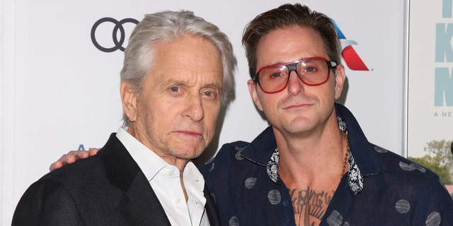 Actors Michael Douglas (L) and Cameron Douglas (R)