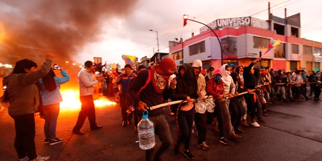 Westlake Legal Group ecuador-2 Ecuador's government flees capital as violent protests erupt in wake of fuel price hikes Greg Norman fox-news/world/world-regions/americas fox news fnc/world fnc d60dfa5e-5560-5a15-9dce-a82747bc0b54 article
