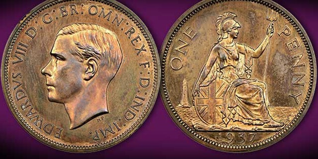 1937 Edward VIII penny. (Credit: Spink)