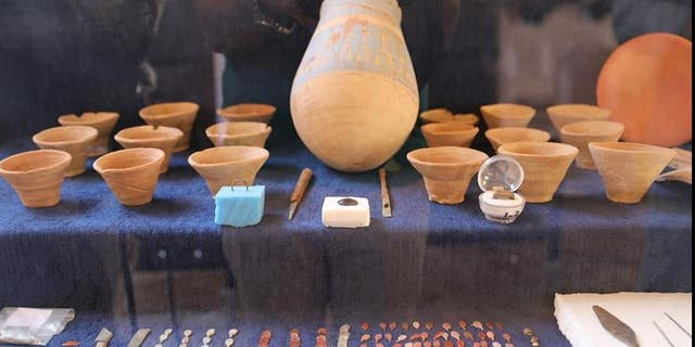 An assortment of artifacts found in Luxor. (Egyptian Ministry of Antiquities)