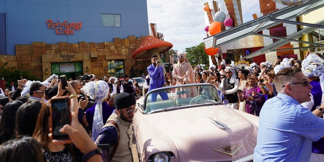 The wedding was estimated to have cost tens of thousands of pounds, but the couple, who have been together for five years, said that Disneyland Paris chipped in to subsidize the event.