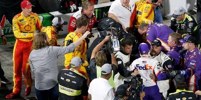 Penske crew member suspended following Logano-Hamlin incident