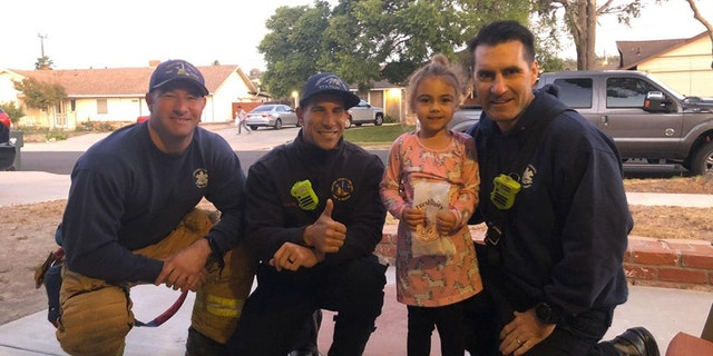Several firefighters with the Ventura County Fire Department paid a special visit to a little girl on Tuesday as she celebrated her birthday.