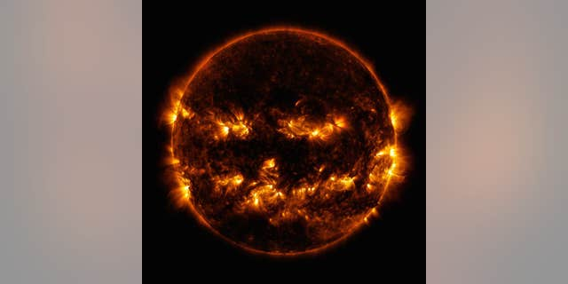 NASA took a picture of the sun in 2014.