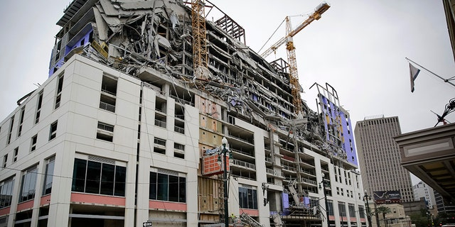Hard Rock Hotel under construction collapses