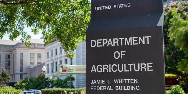 United States Department of Agriculture Jamie L. Whitten federal building entrance sign. Sens Josh Hawley, R-Mo., and Marsha Blackburn, R-Tenn., have introduced legislation that would relocate some federal agencies away from Washington.
