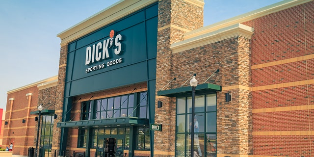 The exterior of Dicks Sporting Goods, a chain of retail stores in over 600 locations, in Lancaster, Pa. CEO Ed Stack said the company destroyed $5 million worth of assault-style rifles as the chain has moved away from selling firearms.<br>