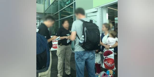 San Diego ICE Homeland Security agents conduct weeklong FGM awareness outreach for travelers at San Diego International Airport.