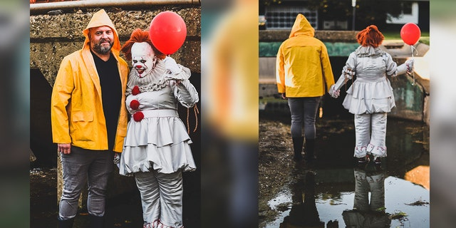 """An Oklahoma couple took their love of the Stephen King book-turned-movie """"It"""" to the streets."""