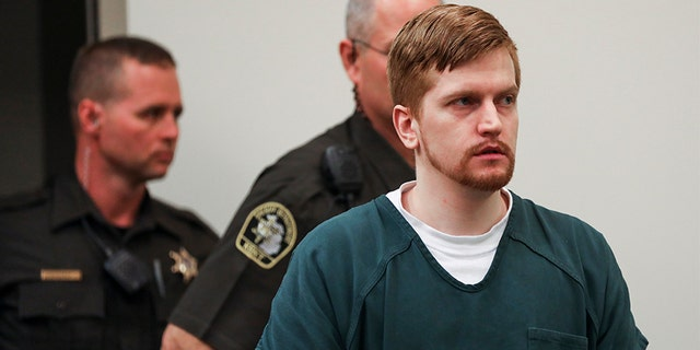 Jared Chance enters the courtroom for his sentencing in Kent County Circuit Court, on Thursday, in Grand Rapids, Mich. (AP/The Grand Rapids Press)