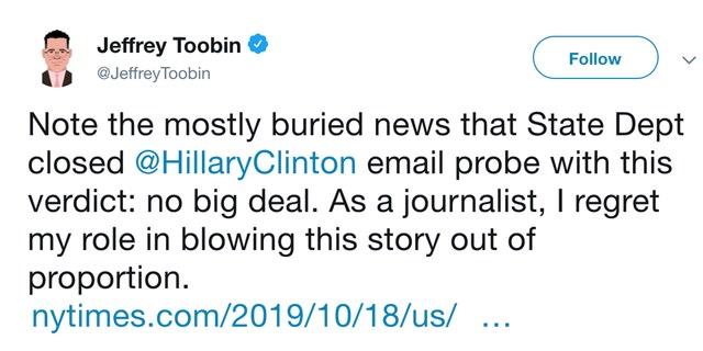 Westlake Legal Group jefrey-toobin CNN's Jeffrey Toobin regrets covering 'no big deal' Clinton email scandal fox-news/media fox news fnc/media fnc Brian Flood article 20b72ab7-06b7-5394-a0ea-1893b970c9b6