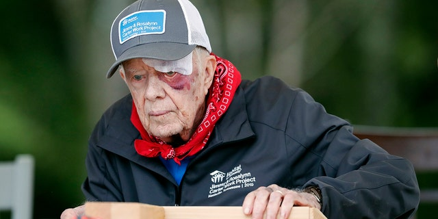 Carter has taken part in 36 building projects with the organization. (AP Photo/Mark Humphrey)