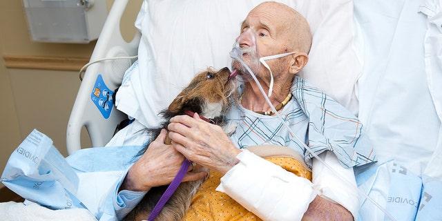 Marine veteran John Vincent was reunited with his dog, Patch.