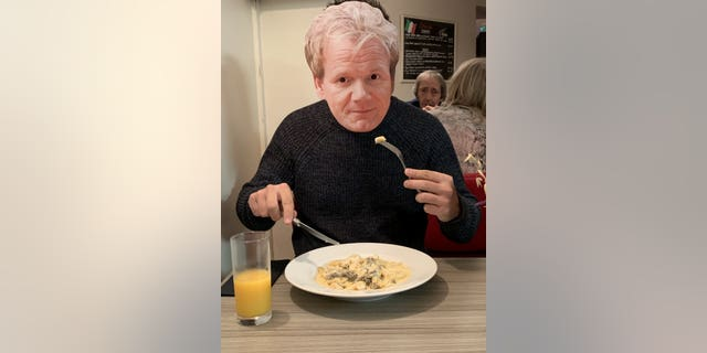 But the disappointment turned to fun and what will become an annual tradition after friends turned up in Ramsay cardboard masks for the inaugural Gordon Ramsay Night.