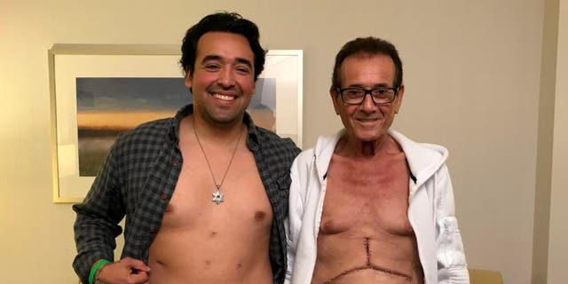 Nikko Velazquez, left. was the donor. Abraham Aviv, right, was the recipient.