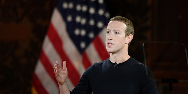 In this Oct. 17, 2019, file photo Facebook CEO Mark Zuckerberg speaks at Georgetown University in Washington. (AP Photo/Nick Wass)