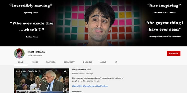 Matt Orfalea resigned from the Sanders campaign after questionable YouTube videos surfaced.