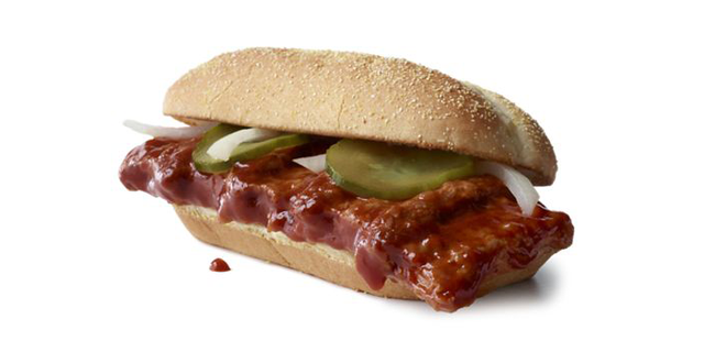 The fast food chain has announced the return of its saucy fan-favorite McRib, which will hit menus at 10K restaurants nationwide starting Oct. 7.