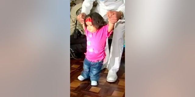 Milagros even learned how to walk after her surgeries.