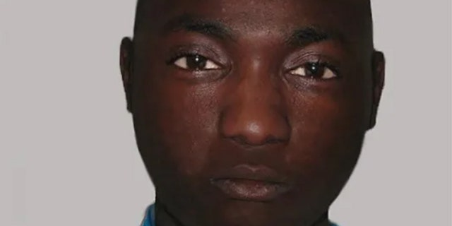 A composite image of a man British police are hoping to identify. He was found dead on June 30 in south London after falling out of an airplane's landing gear compartment, police say.