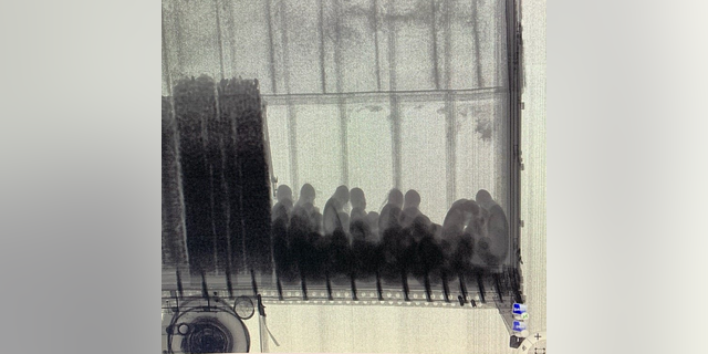 On Oct. 16, migrants were detected using X-ray