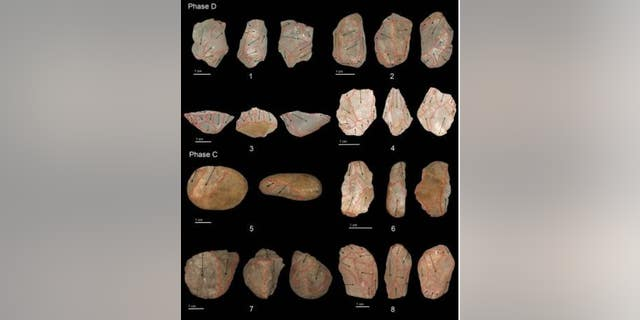 The oldest microlith artifacts from Fa Hein cave in Sri Lanka. (Max Planck Institute)