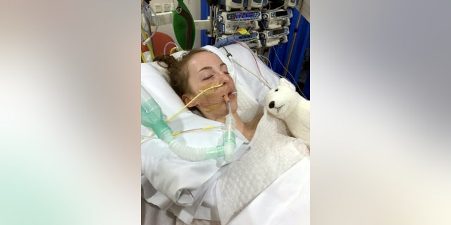 Jade Owens fighting for her life in the hospital. (SWNS)