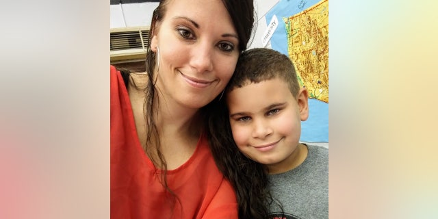 Nicole Montalvo and her eight-year-old son, Elijah.