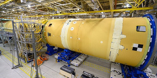 The NASA Space Launch System. (Credit: NASA)