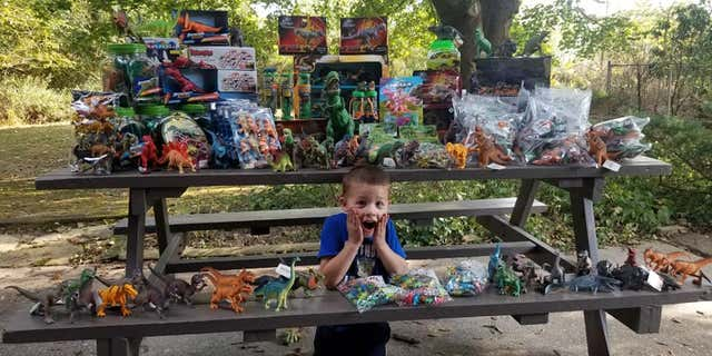 His mom shared his wish on Facebook, and the packages started rolling in.