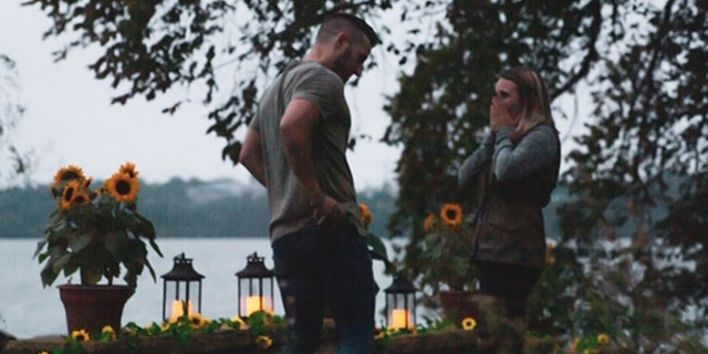 Woman dresses up as bush to capture sister's marriage proposal