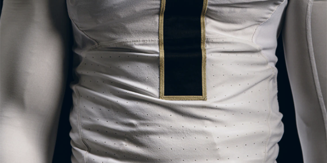 Purdue players will also wear a specially-designed commemorative patch for a homecoming game. (Purdue University)