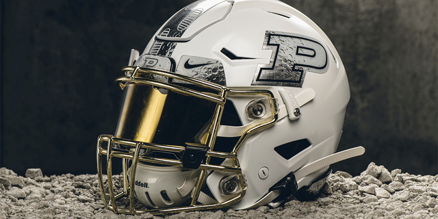Purdue players will wear the moon-inspired helmets for the homecoming game against Maryland.