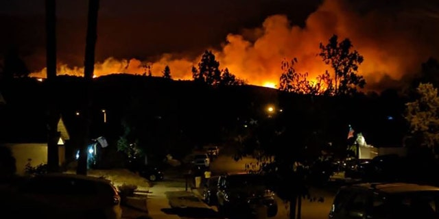 The Wendy Fire in nearby Newbury Park was burning at 90 acres and 25 percent containment around 1 a.m. Friday.