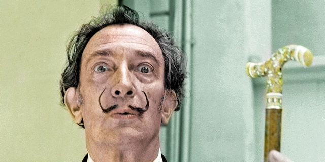 Spanish Catalan surrealist painter Salvador Dali in Barcelona, Spain, in 1966.