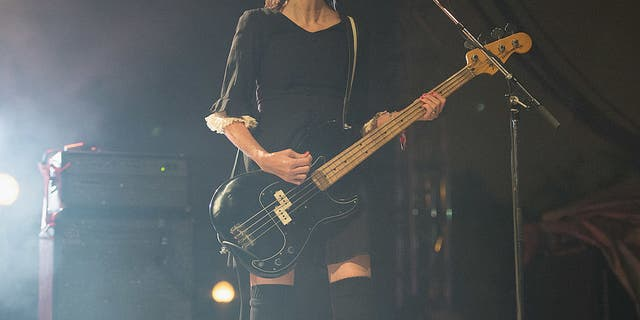 Kim Shattuck also played with The Pixies for a while, performing here at Riot Fest on September 15, 2013 in Chicago, Illinois. (Photo by Daniel Boczarski/Redferns via Getty Images)