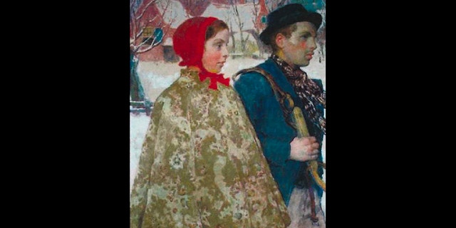 "The painting ""Winter,"" by the artist Gari Melchers, was stolen by the Nazis in 1933. (AP/US Attorney's Office)"